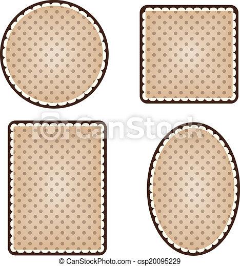Collection of vintage polka dot frames - csp20095229