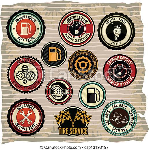 Collection of vintage retro grunge - csp13193197