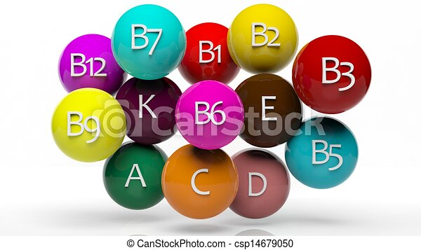 Collection of vitamins isolated on white  - csp14679050