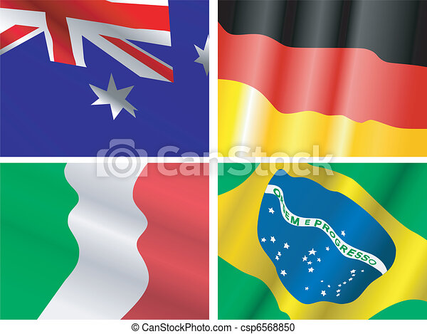 collection of waiving flags - csp6568850