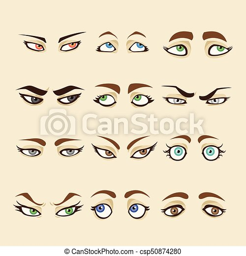 Collection of woman eyes - csp50874280