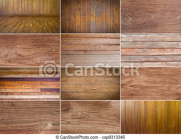 Collection of wood background - csp9313345
