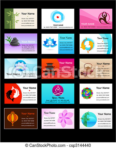 Collection of yoga and zen business cards yoga and zen business collection of yoga and zen business cards csp3144440 colourmoves