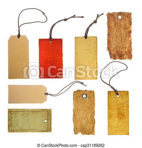 collection paper price tags - csp31189262