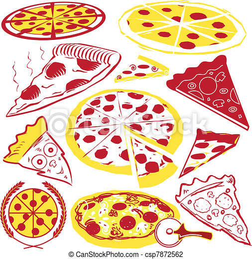 collection, pizza - csp7872562