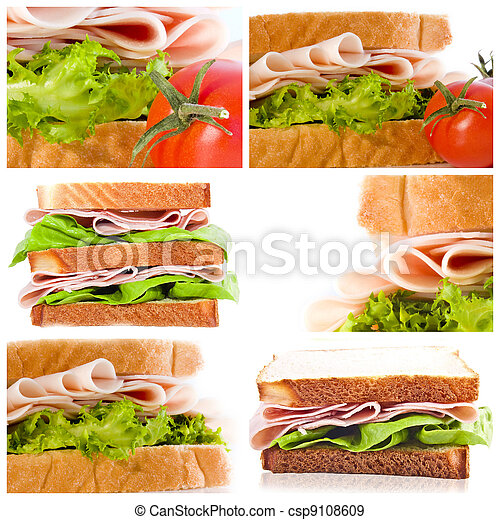 collection set and sandwiches - csp9108609