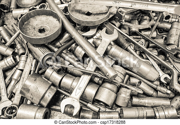 Collection Spanner And Wrench Repair Tool Spare Parts Used In Car