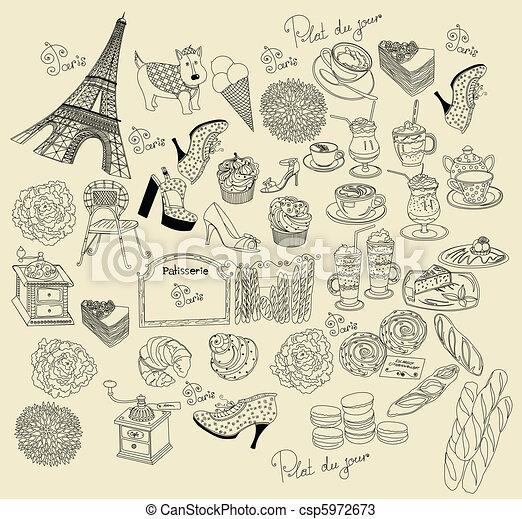 Collection symbols of Paris - csp5972673