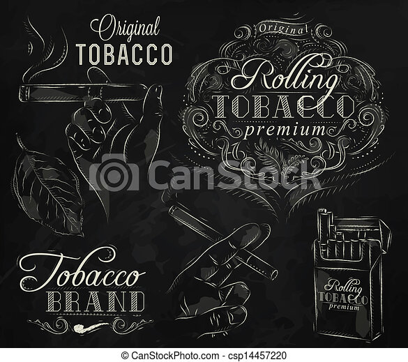 Collection tobacco chalk - csp14457220