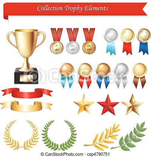 Collection Trophy Elements - csp4790751