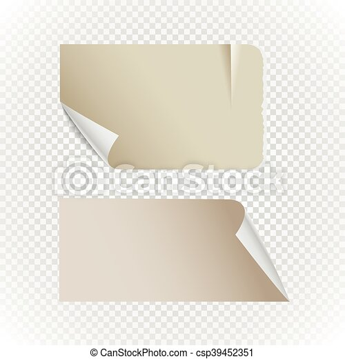Collectionn of vintage paper isolated on transparent background - csp39452351