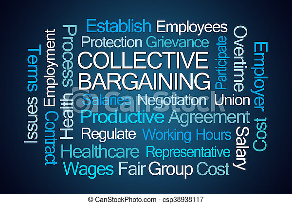 Collective Bargaining Word Cloud - csp38938117
