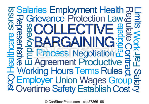 Collective Bargaining Word Cloud - csp37366166