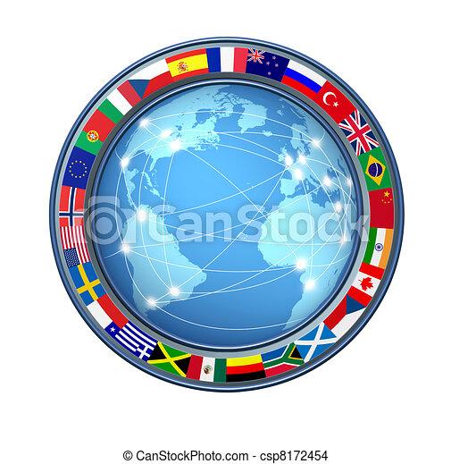 collegamenti, mondo, internet - csp8172454