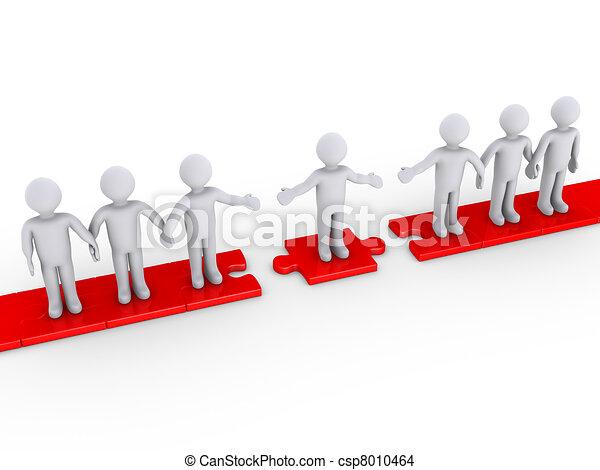 collegamento, fra, due, squadre - csp8010464