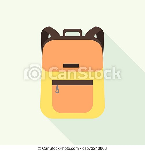 College backpack icon, flat style - csp73248868