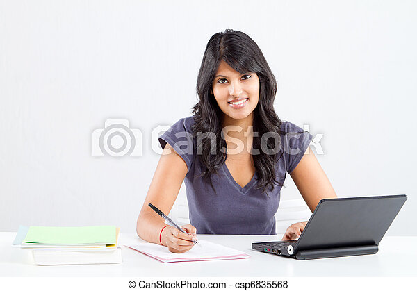college student studying - csp6835568