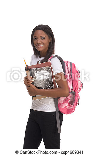 College student young African American woman - csp4689341