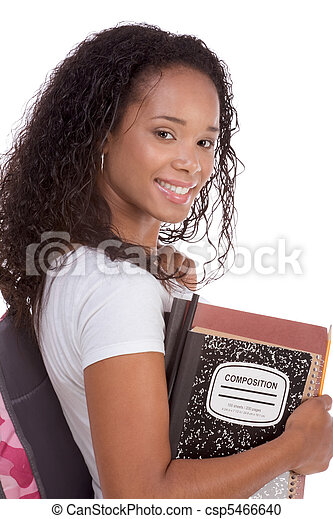 College student young African American woman - csp5466640