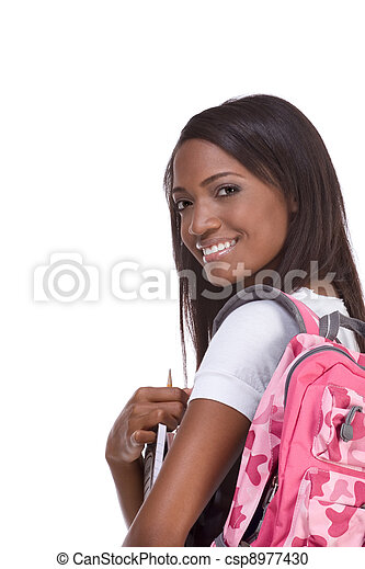 College student young African American woman - csp8977430