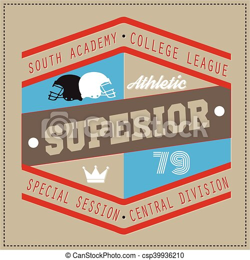 787d72e78 College superior university division team sport label typography, t-shirt  graphics for apparel.