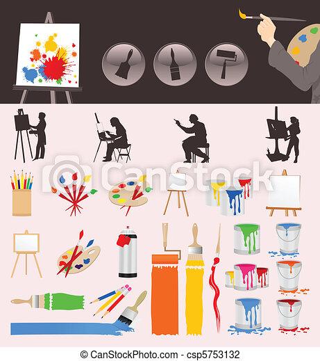 collezione, artista - csp5753132