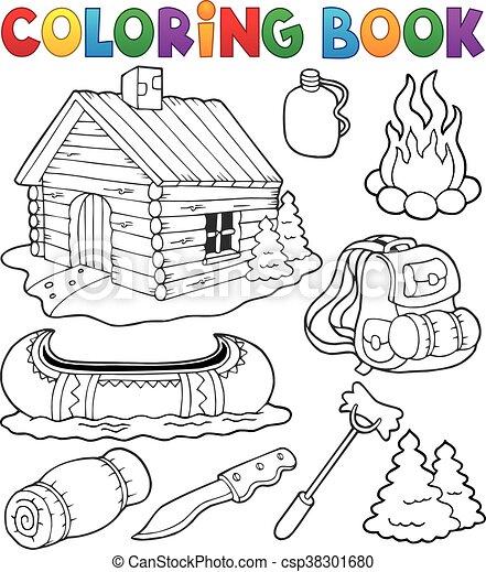 collezione, coloritura, esterno, libro, oggetti - csp38301680