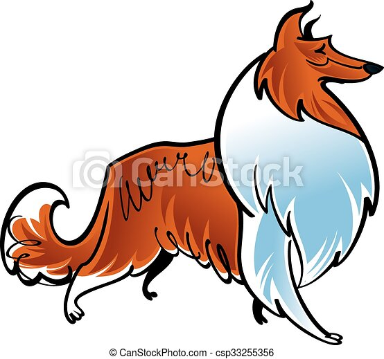 collie illustrations and clipart 1 310 collie royalty free rh canstockphoto com border collie puppy clipart border collie clipart