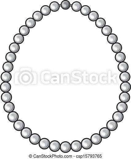 collier de perle dessin