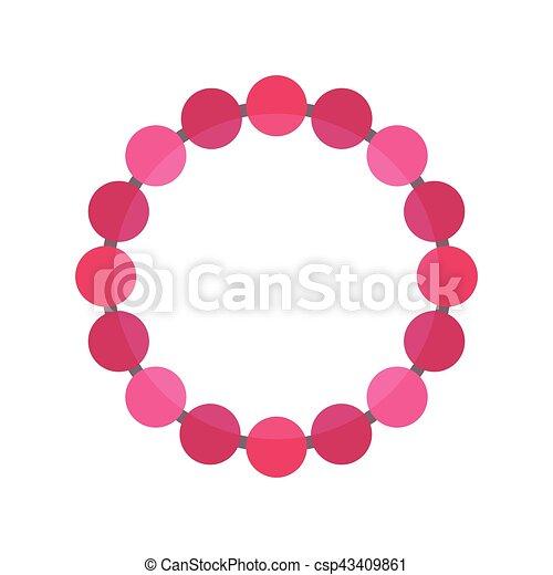 collier perle vectoriel