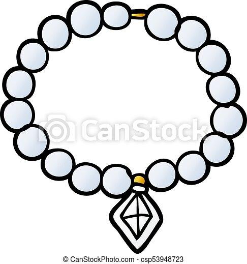 collier de perle illustration