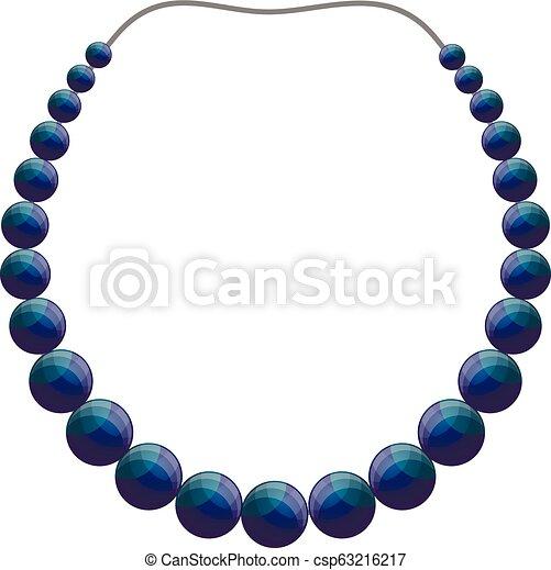 dessiner un collier de perles