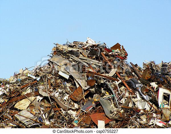 colline, déchets - csp0755227