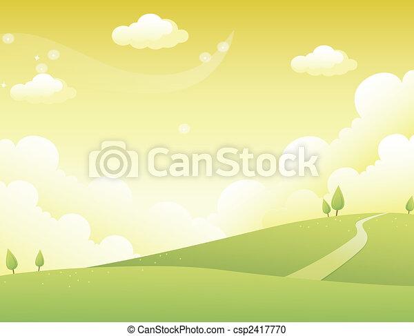 colline, route - csp2417770