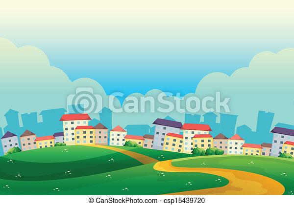 collines, village - csp15439720