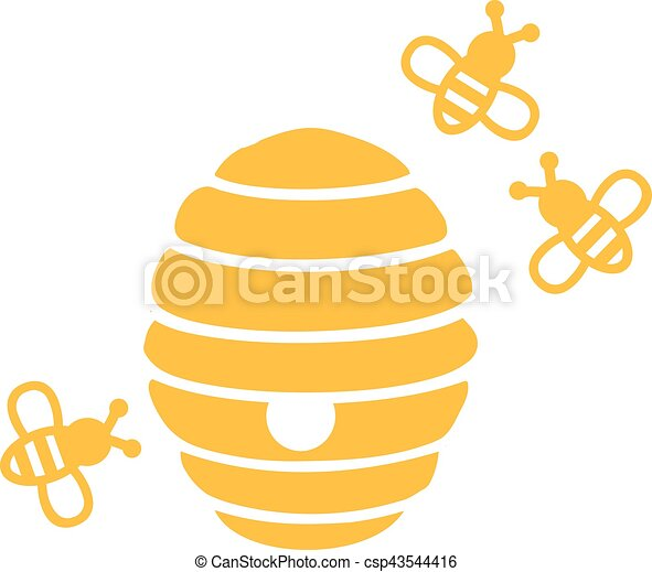 colmena abejas vector