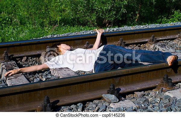 Una chica en un tren - csp6145236