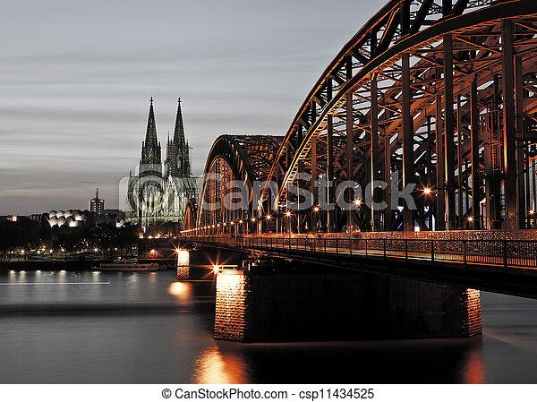 Cologne at Night - csp11434525