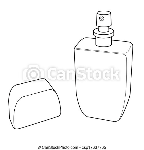 cologne spray bottle out line vecto black bottle of perfume spray