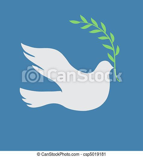 colombe blanc - csp5019181