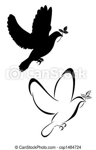 Tatouages tribal ensemble colombe deux dessin - Colombe en dessin ...