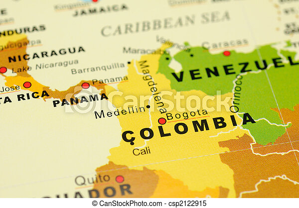 Colombia on map - csp2122915