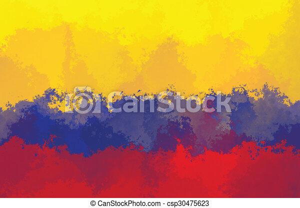 colombian flag grunge design pattern