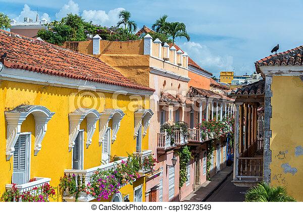 Colonial Balconies - csp19273549