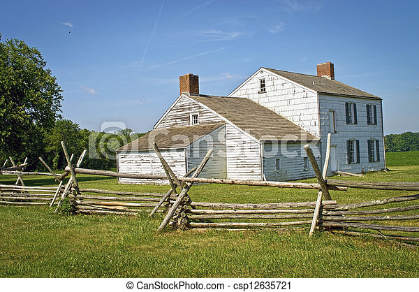 Colonial Home Monmouth Battlefield - csp12635721