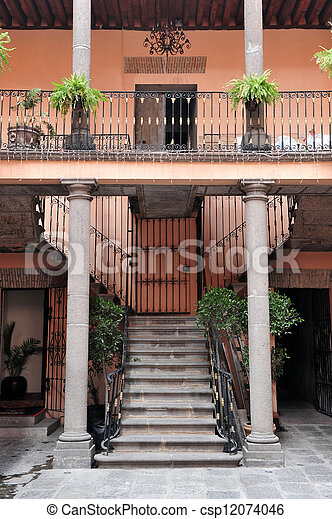 Colonial house - csp12074046