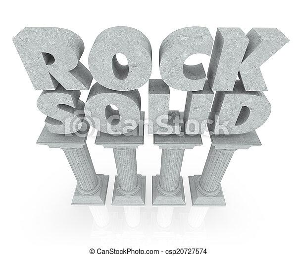 colonne, pietra, solido, affidabile, stabilità, parole, roccia, marmo, colonne - csp20727574