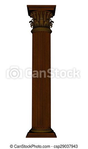 colonne, -, render, 3d - csp29037943