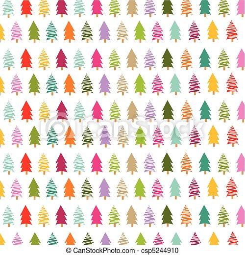 coloré, arbres, carte, noël - csp5244910