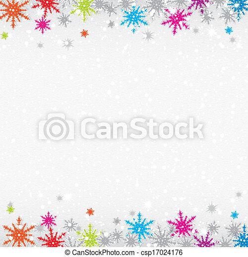 coloré, flocons neige, fond, noël - csp17024176